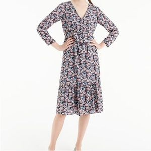 J.Crew Ruffle hem dress in paisley floral size 4